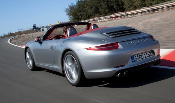Trasera del Porsche 911 Cabriolet