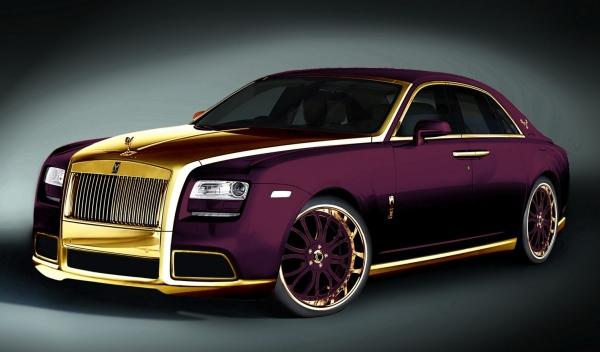 Rolls Royce Ghost Purple frontal