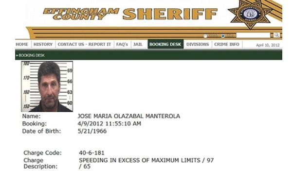 Olazabal, multado en EEUU por ir a 156 km/h