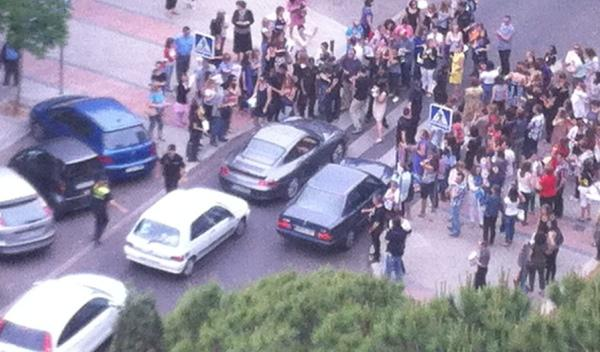 Cortan a pie la calle de la Audiencia Provincial de Madrid