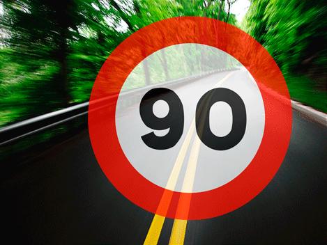Tráfico reducirá la velocidad de las carreteras secundarias