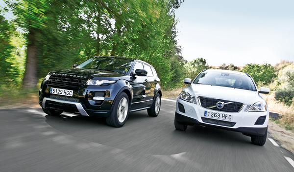 Range Rover Evoque/Volvo XC60 delanteras