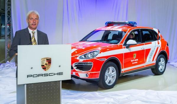 Porsche Cayenne de Bomberos