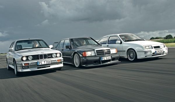 BMW M3 vs Sierra Cosworth vs Mercedes 190 E 2.5 16 Evo II