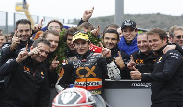 Tres jóvenes roban el ciclomotor de Marc Márquez en Cheste