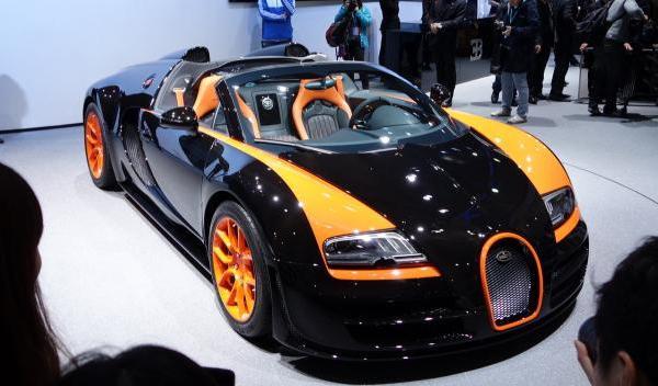 El Bugatti Veyron Grand Sport Vitesse WRC, en Shanghai