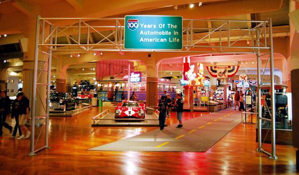 Entrada al área automovilística del museo Henry Ford