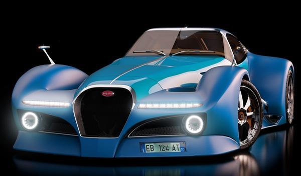 Bugatti 12.4 Atlantique Concept frontal
