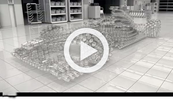 Johnnie Walker construye un F1 con vasos: #imnotdriving