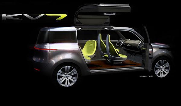 Kia Motors presentará en Detroit el KV7, un concept con ala