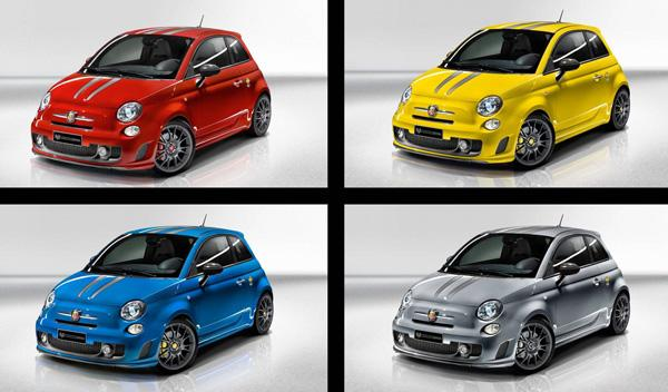 "El Abarth 695 ""Tributo Ferrari"" estará disponible en cuatro colores exclusivos"