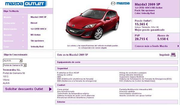 Outlet Mazda Entrada