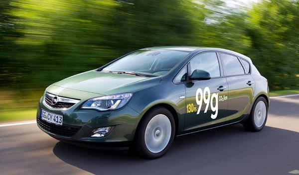 Astra ecoFLEX: 99 g/km de CO2 y 3,7 l/100 km