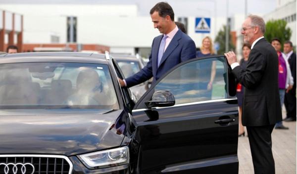 El Príncipe Felipe da el pistoletazo de salida al Audi Q3