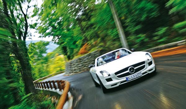 Frontal del Mercedes SLS AMG Roadster