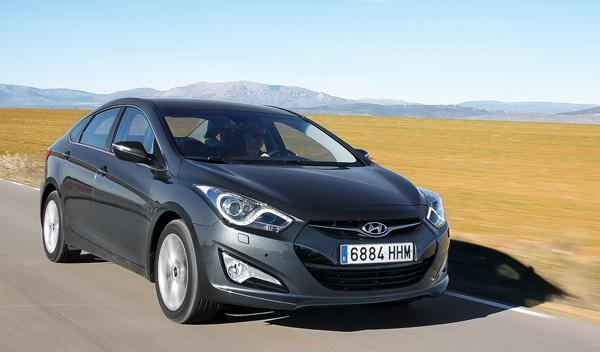 Delantera del Hyundai i40 Sedán