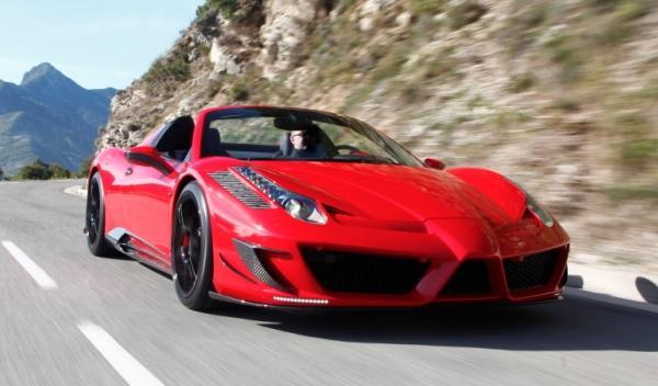 Delantera del Mansory Ferrari 458 Spider Monaco Edition