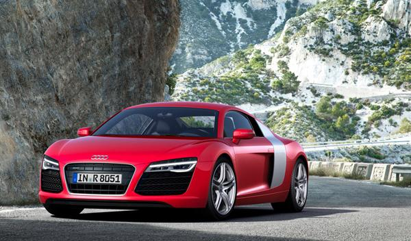 Audi R8 2012 coupe frontal estatica