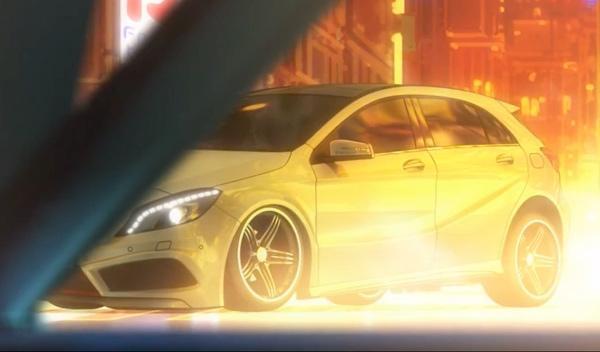 El Mercedes Clase A llega a Japón en un corto anime