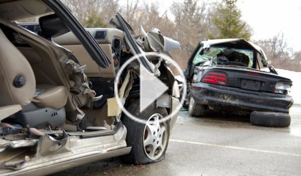 Accidente en túnel por pique entre un BMW X5 y un Audi
