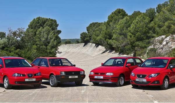 generaciones del Seat Ibiza