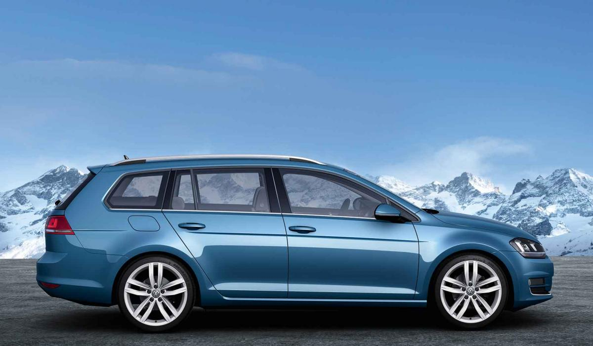 Silueta del Volkswagen Golf Variant 7
