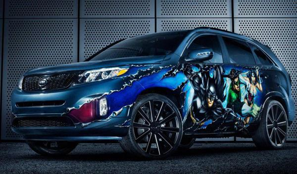 Kia Sorento Justice League frontal