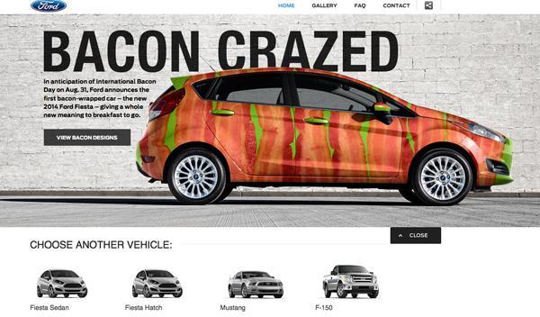 'Tunea' tu Ford Fiesta de panceta por el Día del Bacón
