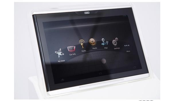 Audi desarrolla un nuevo tablet para sus automóviles