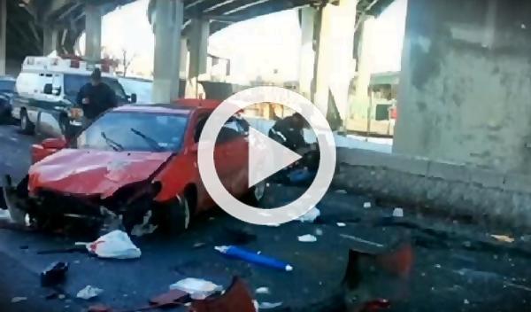 Una pareja sobrevive a una caída de 15 metros con su Toyota