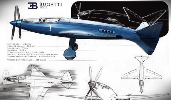 Bugatti P100: el avión de Ettore que volará por primera vez