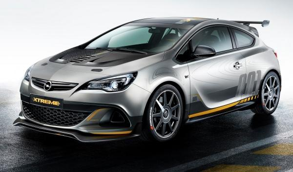 Frontal del Opel Astra OPC EXTREME