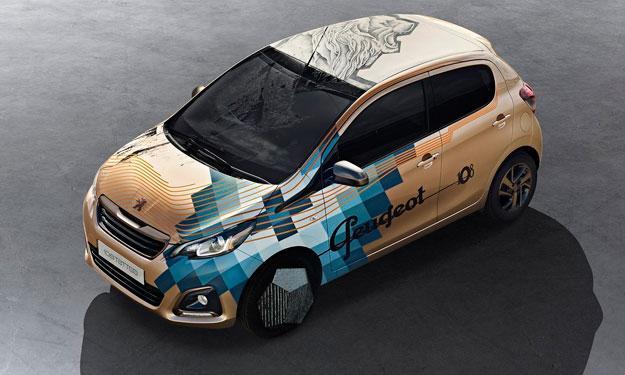 Peugeot 108 Tattoo concept, en el Salón de Ginebra 2014