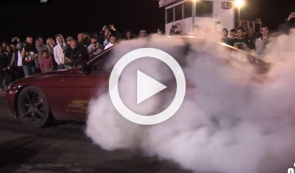 Vídeo: de tanto quemar rueda, provoca un incendio