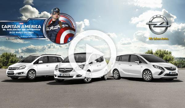 Capitán America: el soldado de invierno y Opel, juntos