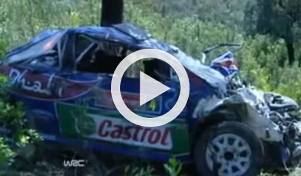 Vídeo: accidente de Latvala con 17 vueltas de campana