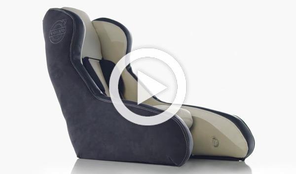 Volvo está desarrollando una silla de bebés hinchable