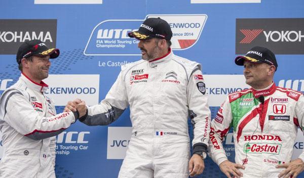WTCC 2014, Paul Ricard, carrera 1: Muller gana. Loeb, casi