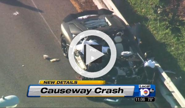 Muere un hombre en un accidente con un Aventador
