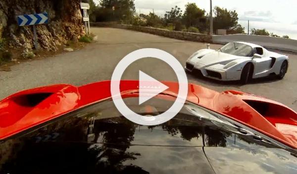 Vídeo: un Ferrari LaFerrari y un Enzo por las colinas