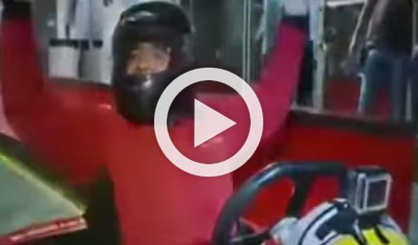 Maradona se vicia con los karts