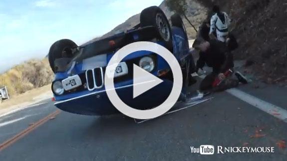 Vídeo: un joven de 17 años vuelca el BMW de su padre