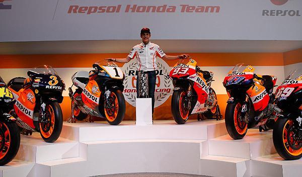 Marc Márquez renueva con el equipo Honda Repsol hasta 2016