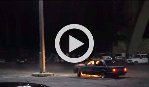 Vídeo: hace drift y su BMW sale ardiendo