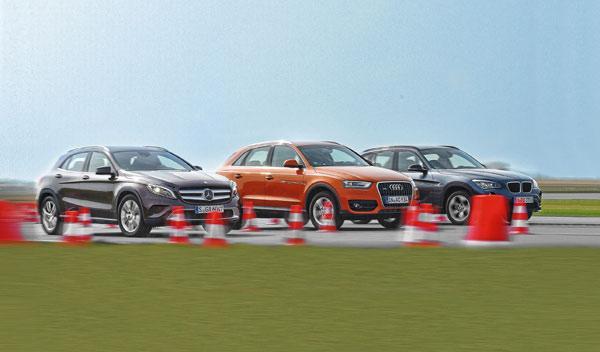 Comparativa Audi Q3, BMW X1, Mercedes GLA