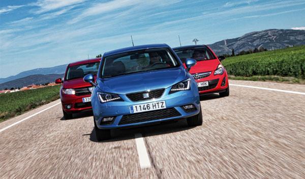 Dacia Sandero contra Opel Corsa y Seat Ibiza