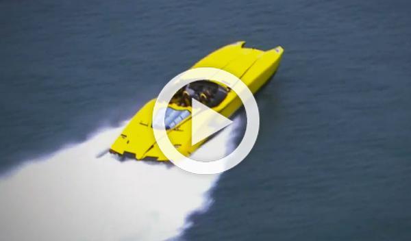 'LamBOAT', un bote casi clavado al Lamborghini Aventador