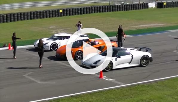 Carrera de Porsche 918, McLaren 650S y Koenigsegg