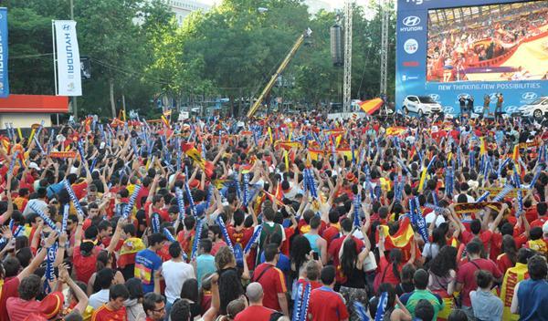 25.000 personas vieron el España-Holanda en la Fan Zone