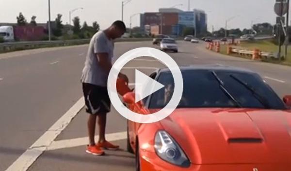 Evan Turner, jugador de la NBA, sin gasolina en su Ferrari